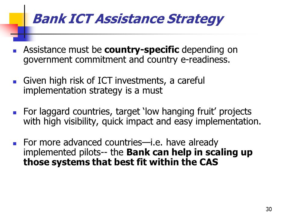 Bank ICT Assistance Strategy