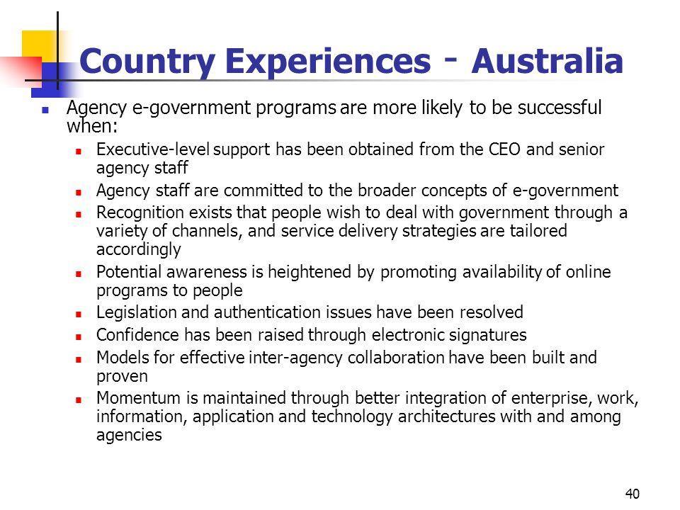 Country Experiences - Australia