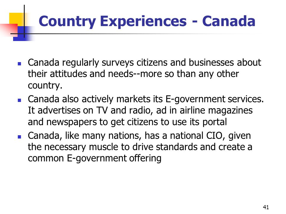 Country Experiences - Canada