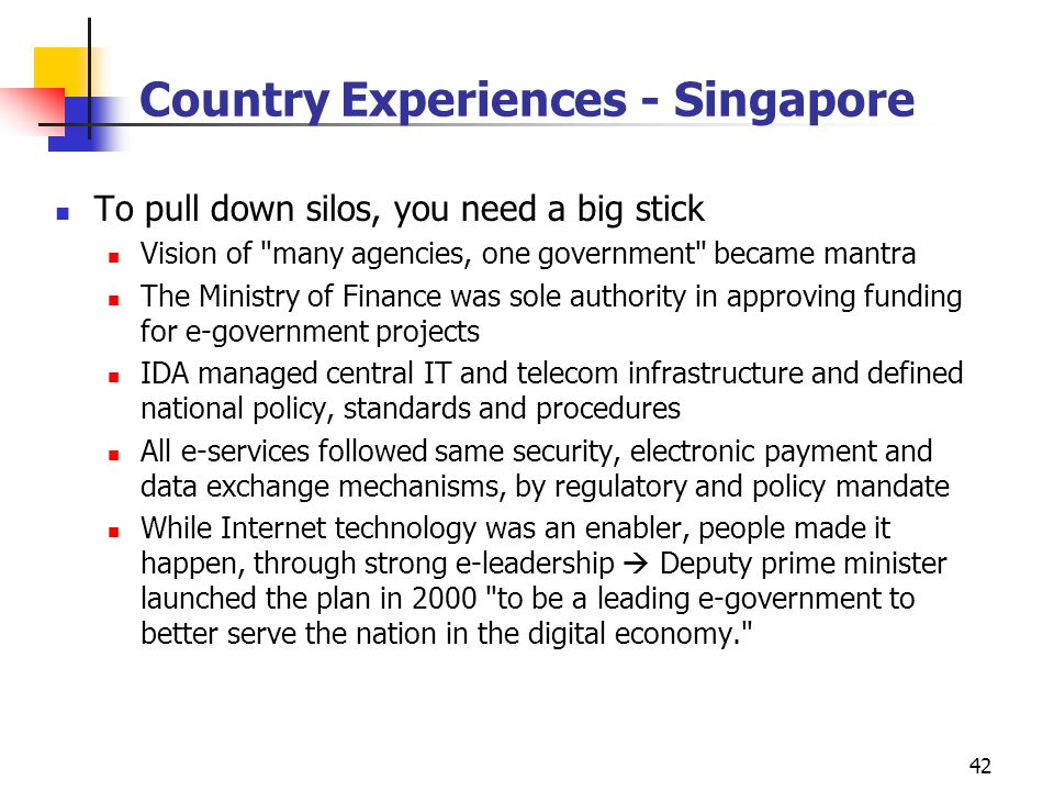 Country Experiences - Singapore