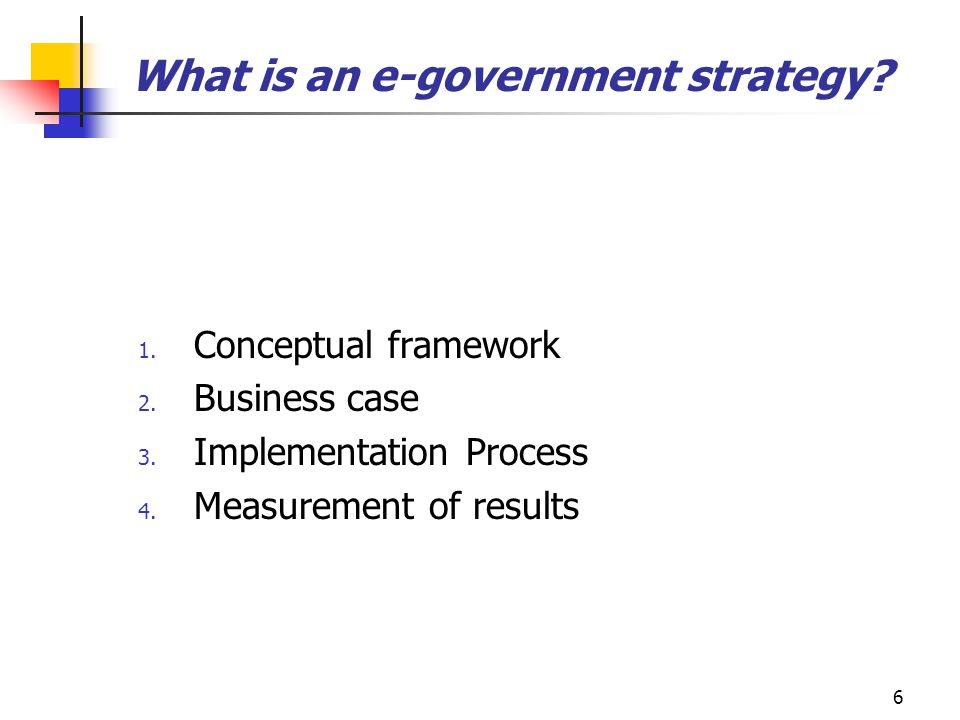 What is an e-government strategy