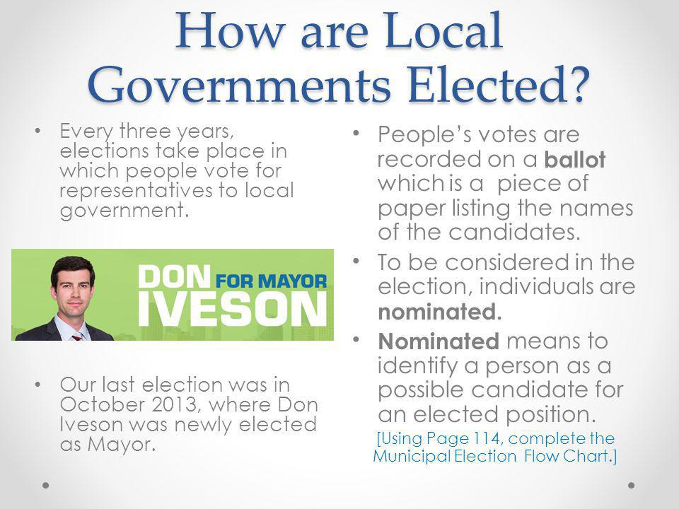 How are Local Governments Elected