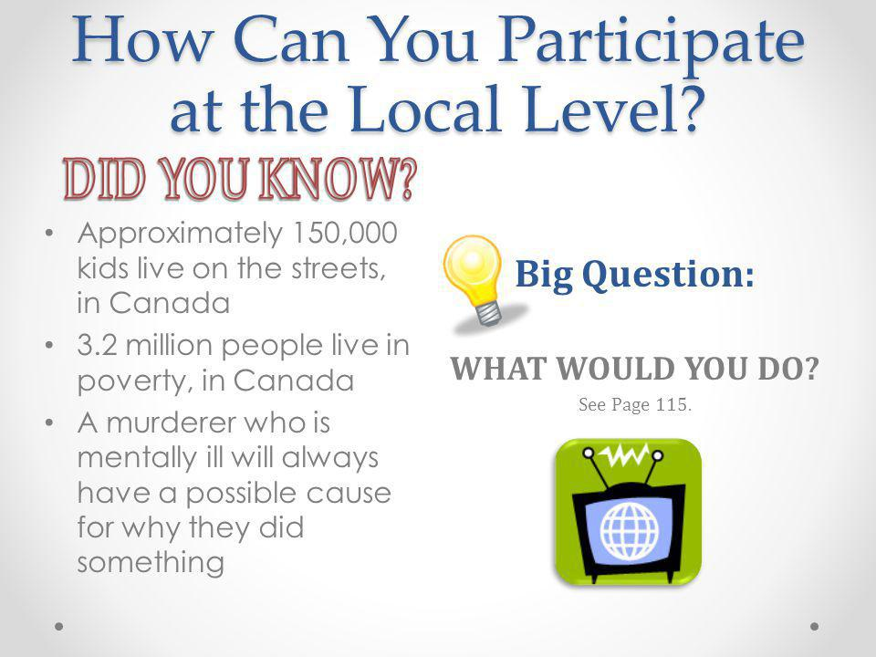 How Can You Participate at the Local Level