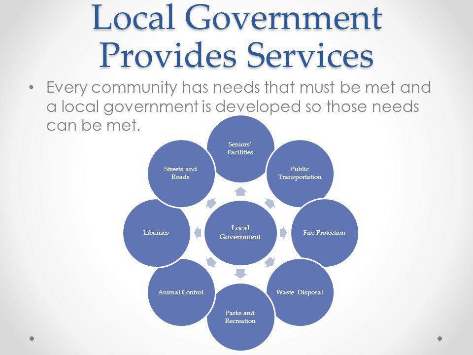 Local Government Provides Services