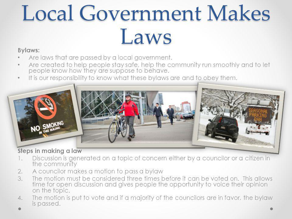 Local Government Makes Laws