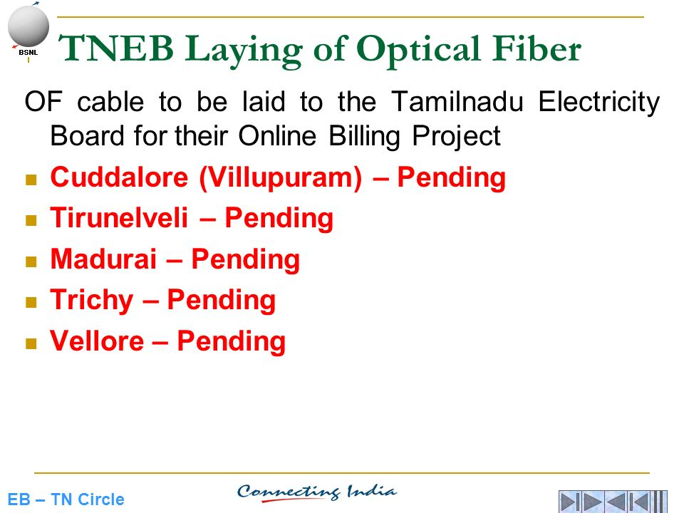 TNEB Laying of Optical Fiber