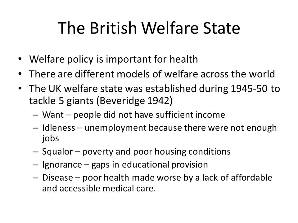The British Welfare State