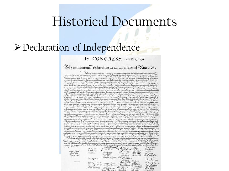 Historical Documents Declaration of Independence U.S. Government