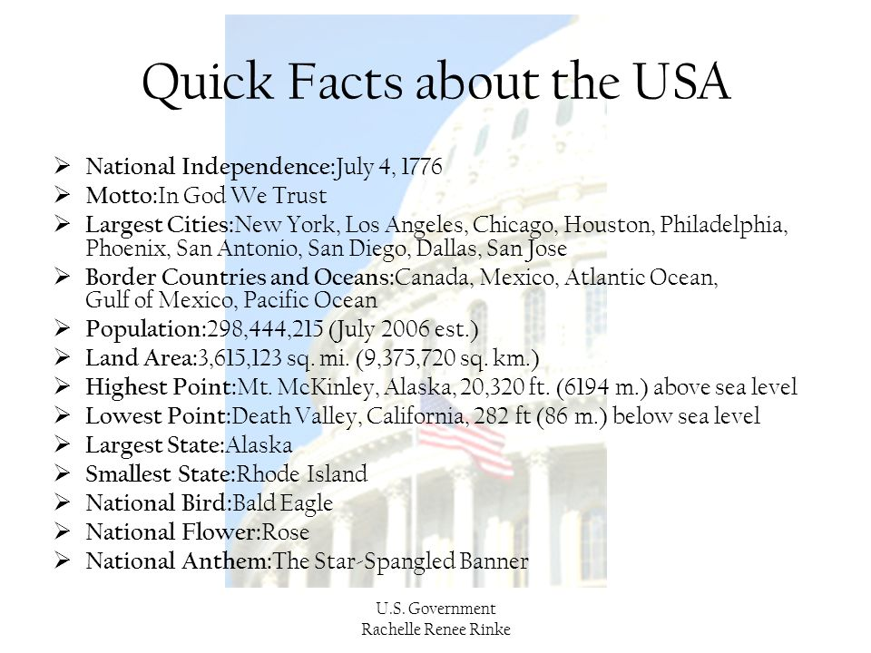 Quick Facts about the USA