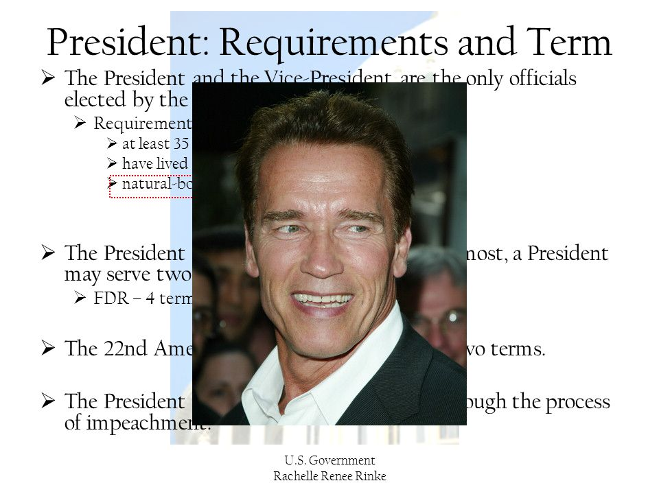 President: Requirements and Term