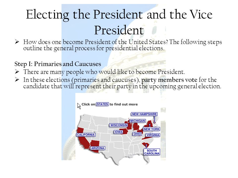 Electing the President and the Vice President