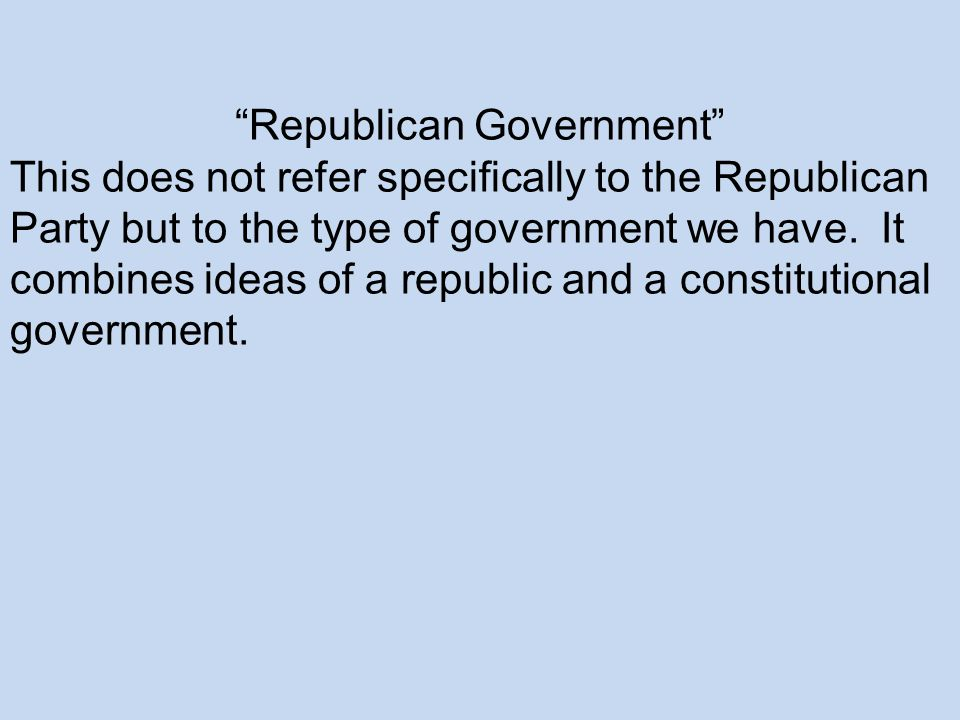 Republican Government