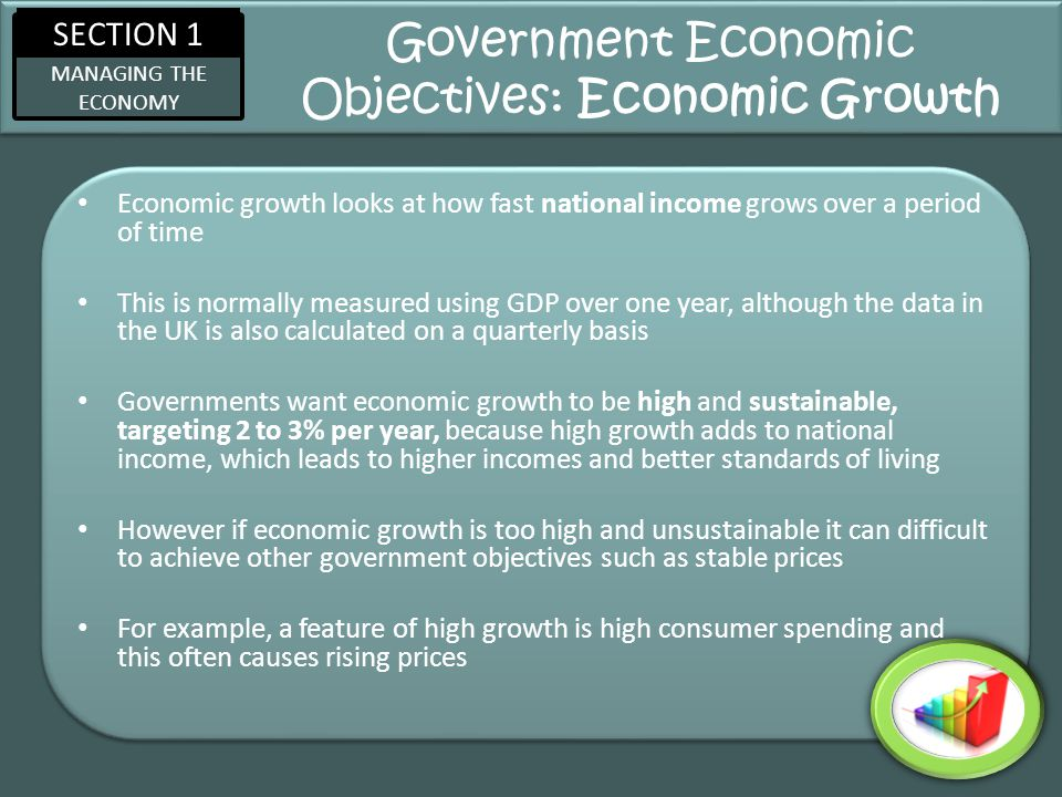 Government Economic Objectives: Economic Growth
