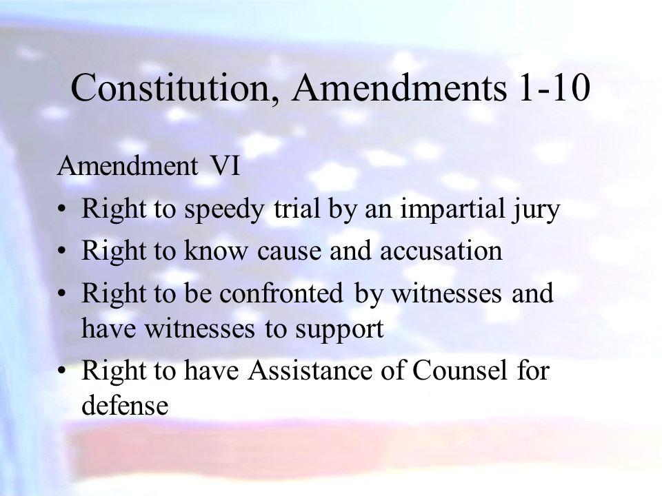 Constitution, Amendments 1-10
