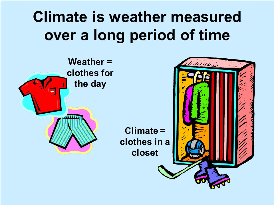 Climate is weather measured over a long period of time