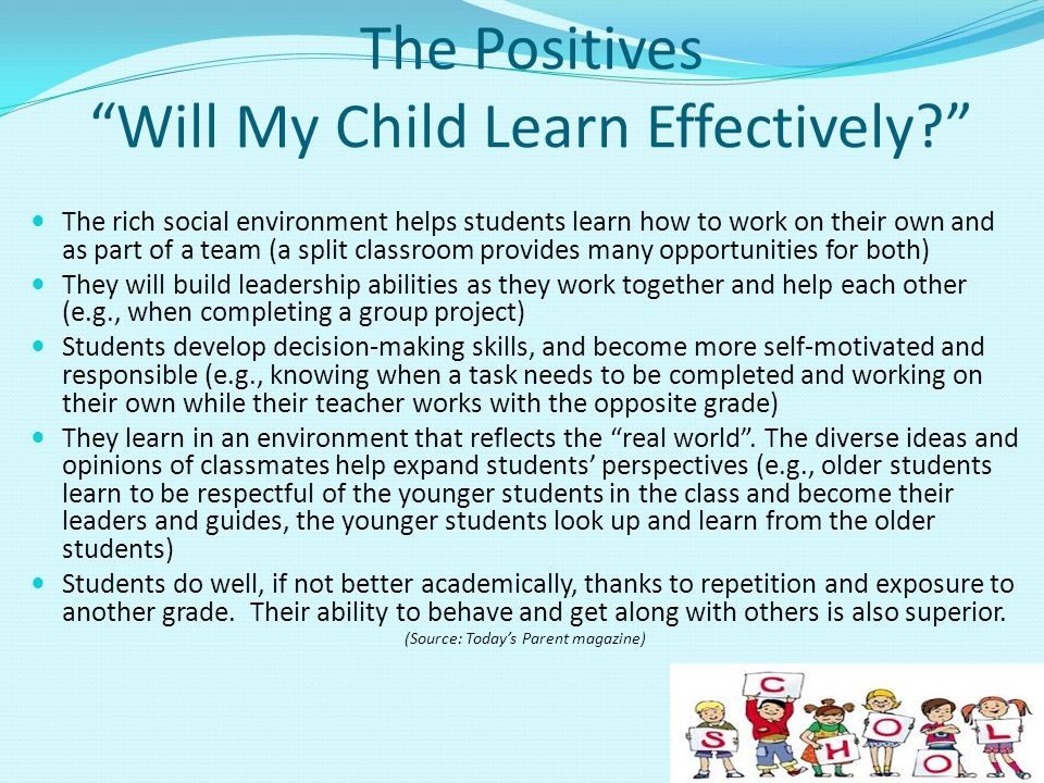 The Positives Will My Child Learn Effectively