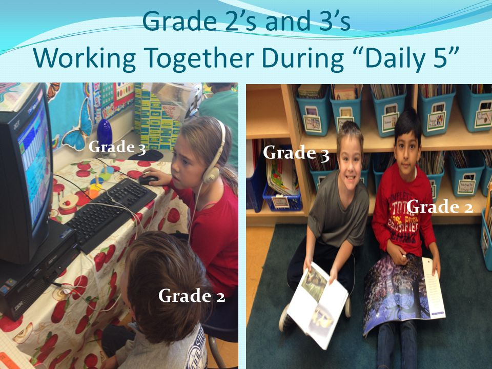 Grade 2's and 3's Working Together During Daily 5