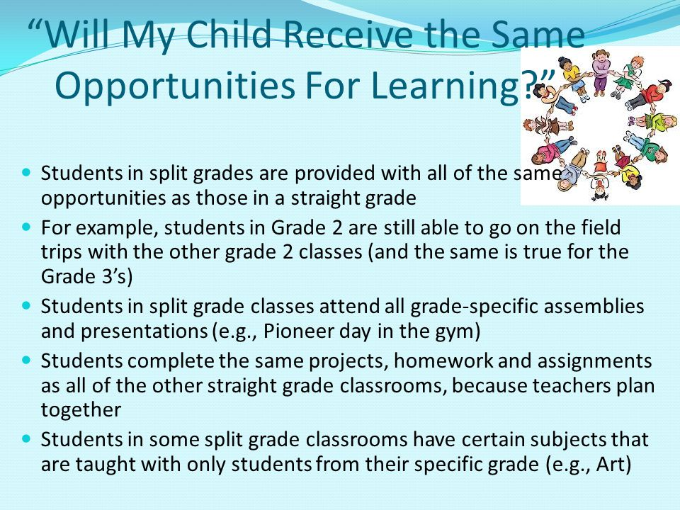 Will My Child Receive the Same Opportunities For Learning