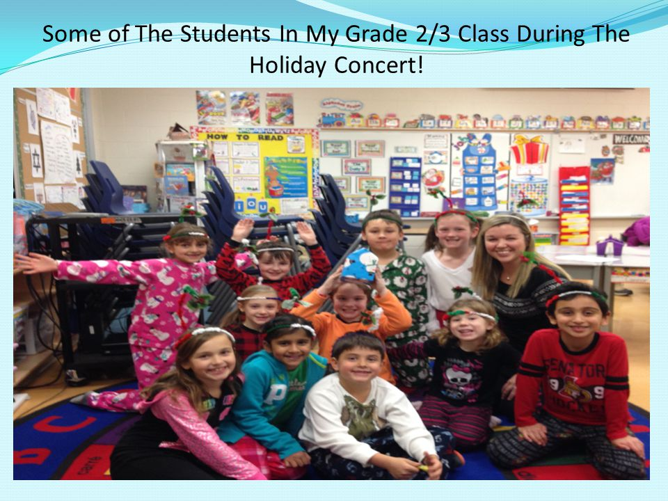 Some of The Students In My Grade 2/3 Class During The Holiday Concert!