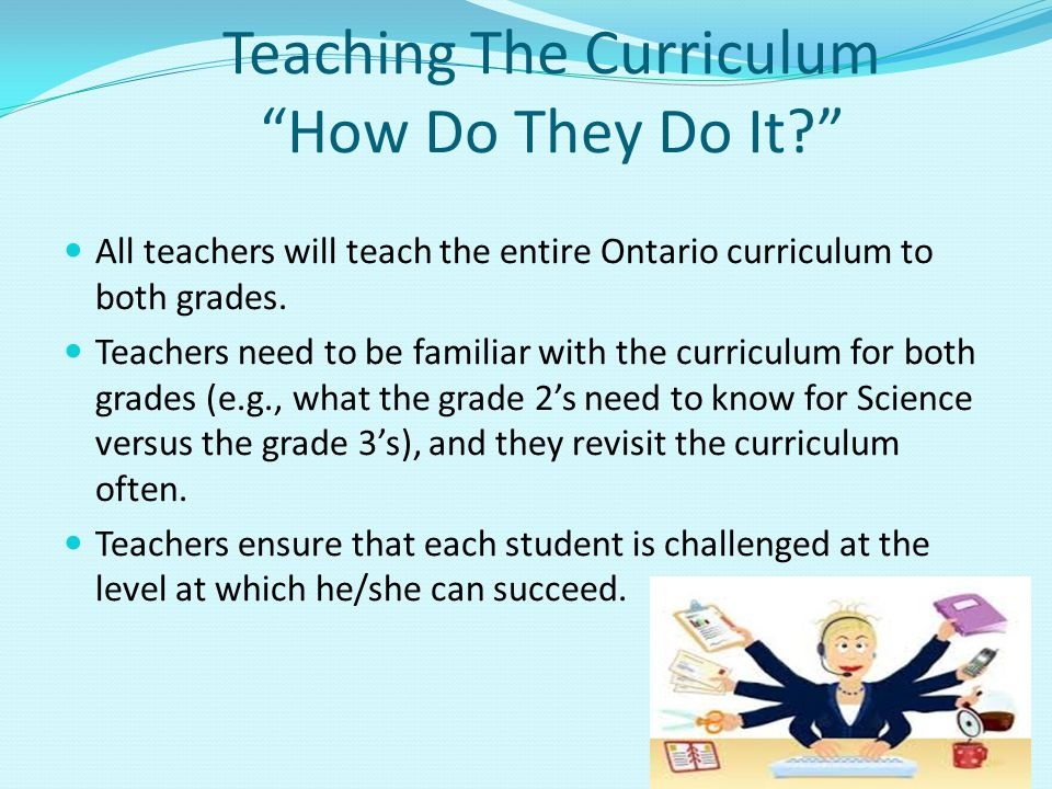 Teaching The Curriculum How Do They Do It