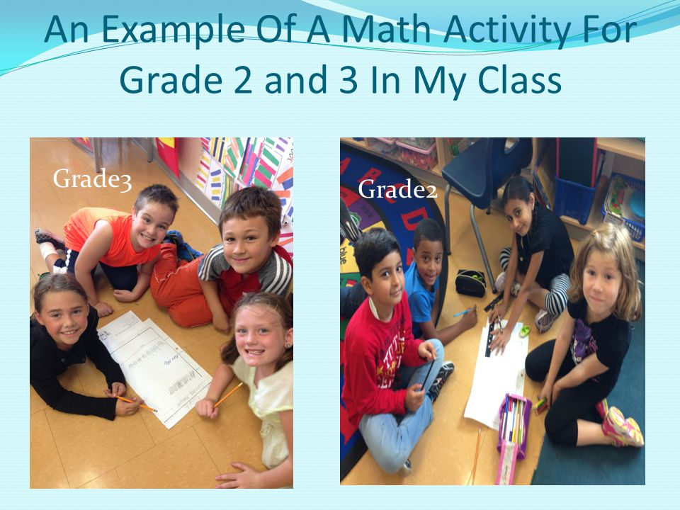 An Example Of A Math Activity For Grade 2 and 3 In My Class