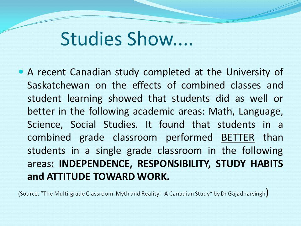 Studies Show....