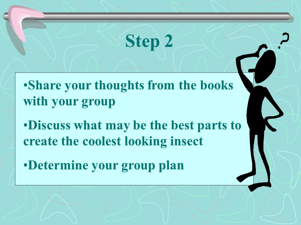 Step 2 Share your thoughts from the books with your group