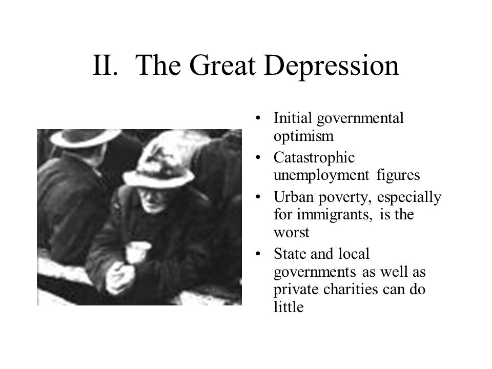 II. The Great Depression