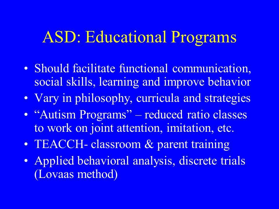 ASD: Educational Programs