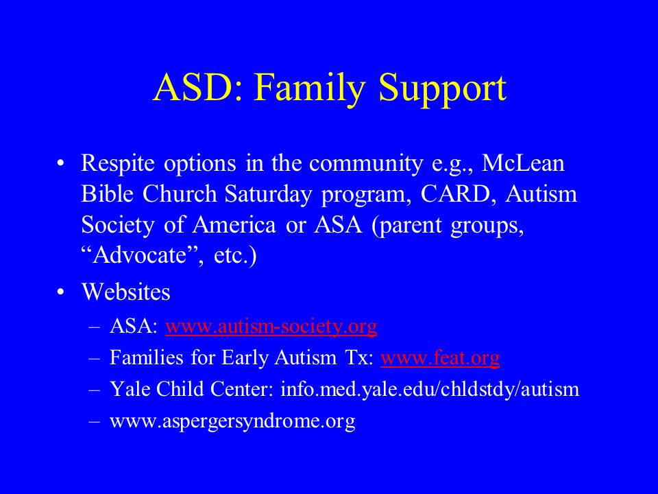 ASD: Family Support