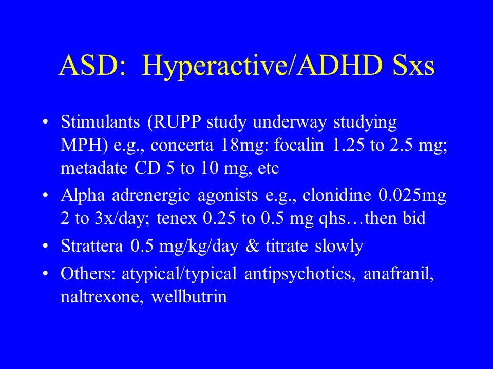 ASD: Hyperactive/ADHD Sxs