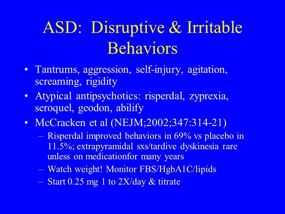 ASD: Disruptive & Irritable Behaviors