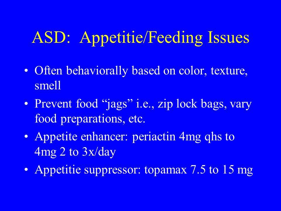 ASD: Appetitie/Feeding Issues