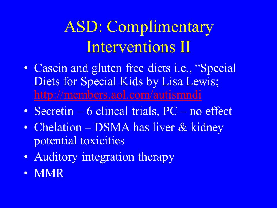 ASD: Complimentary Interventions II