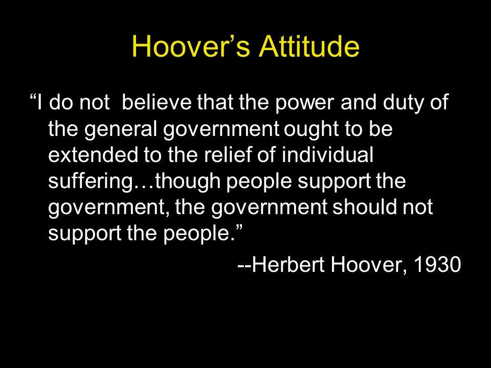 Hoover's Attitude