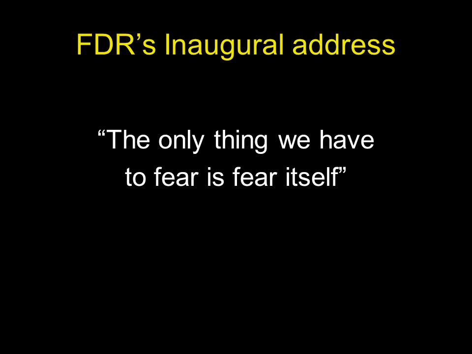 FDR's Inaugural address