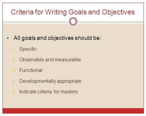 Goal and objective essay