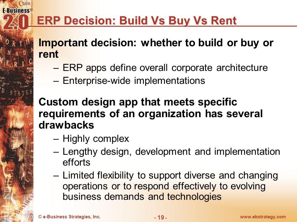 ERP Decision: Build Vs Buy Vs Rent