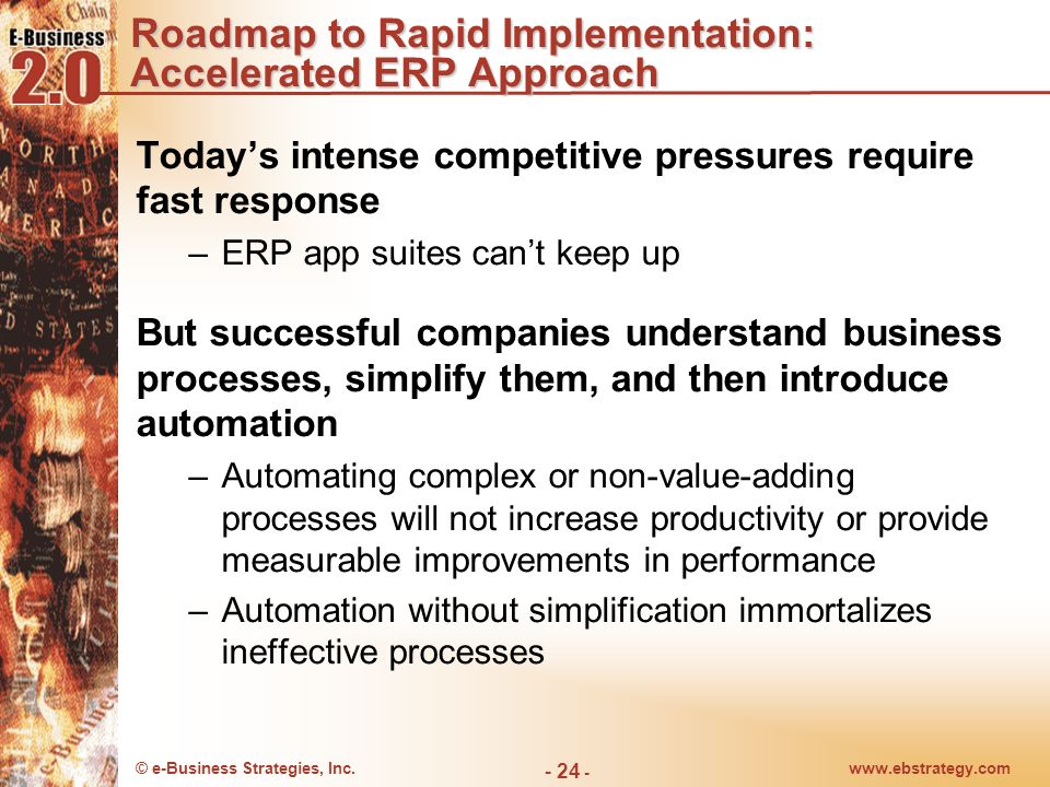 Roadmap to Rapid Implementation: Accelerated ERP Approach