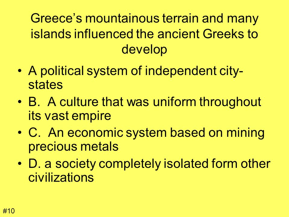 A political system of independent city-states