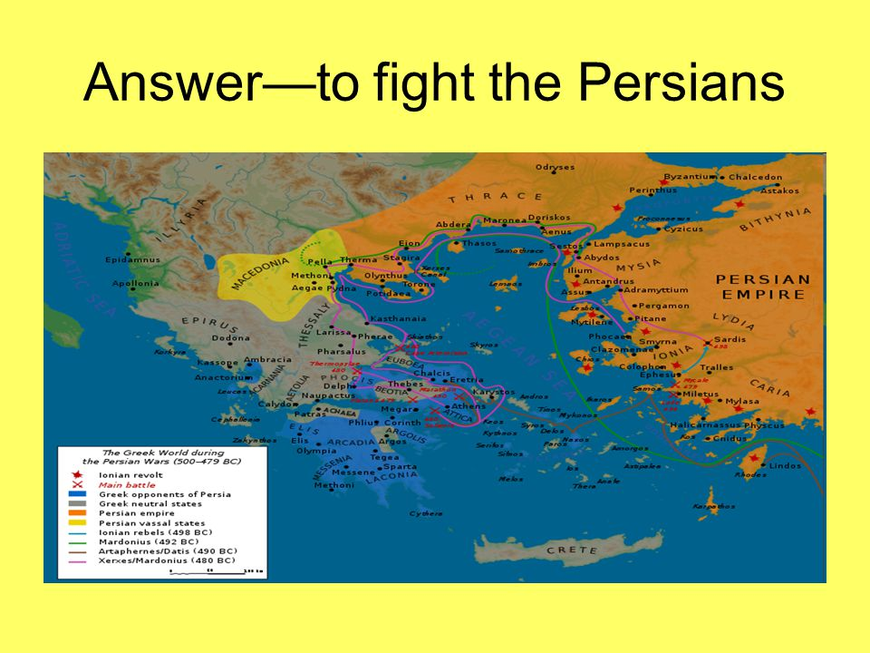 Answer—to fight the Persians