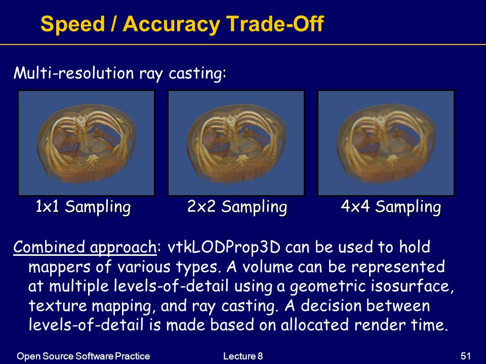 Speed / Accuracy Trade-Off