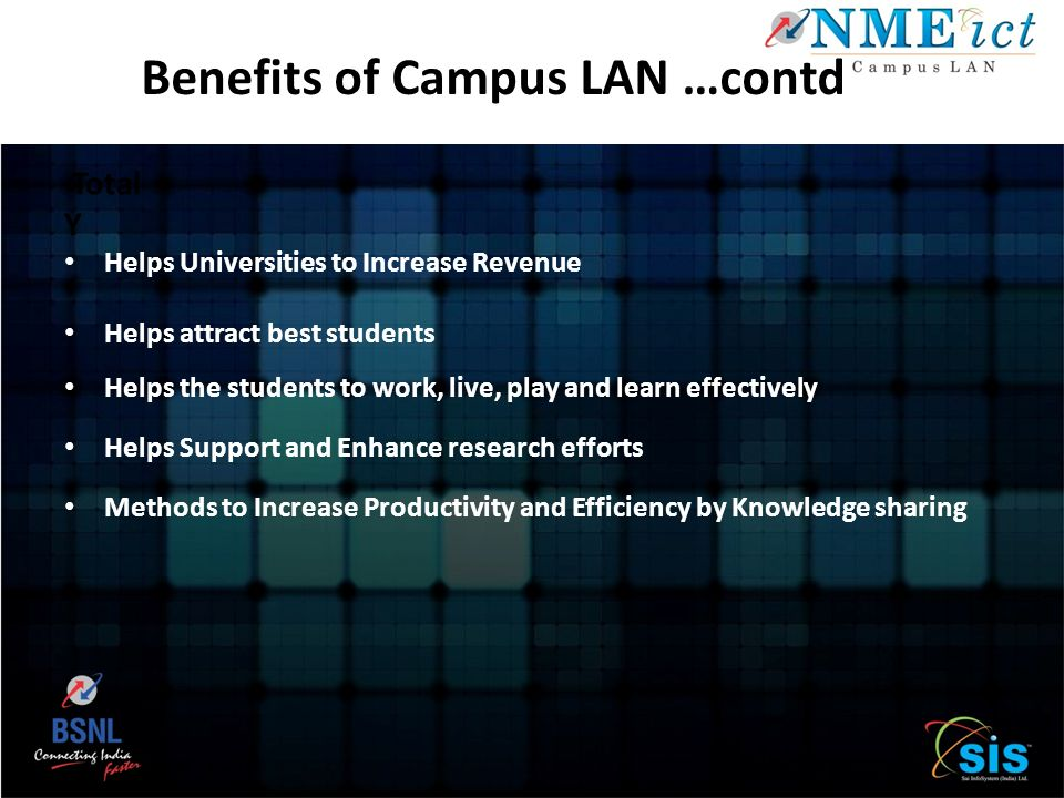 Benefits of Campus LAN …contd