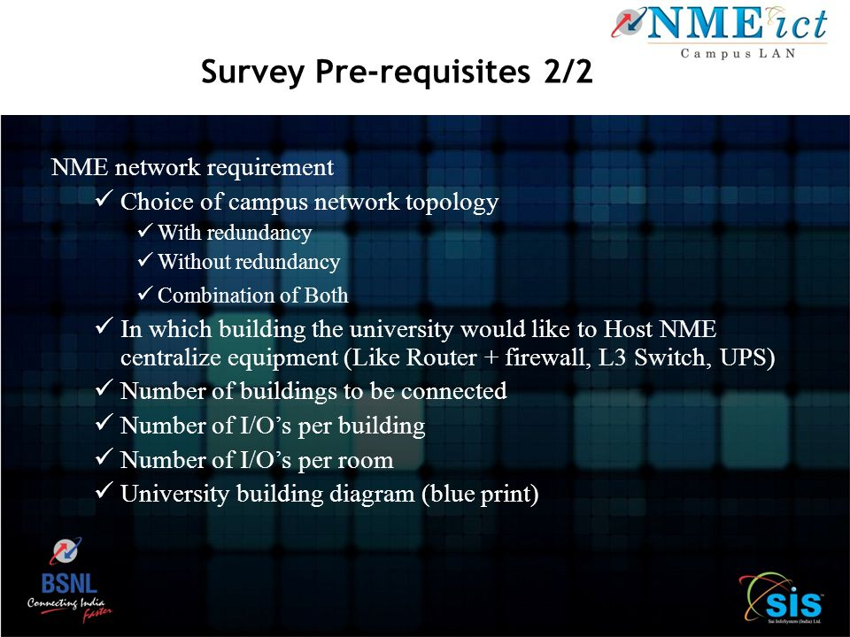 Survey Pre-requisites 2/2