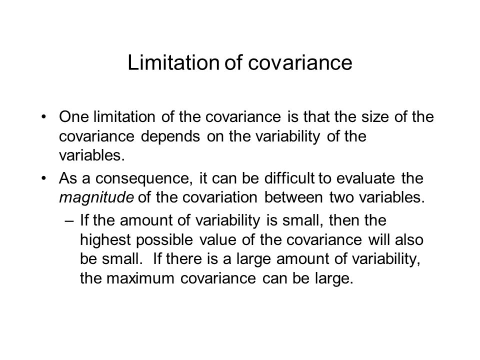 Limitation of covariance