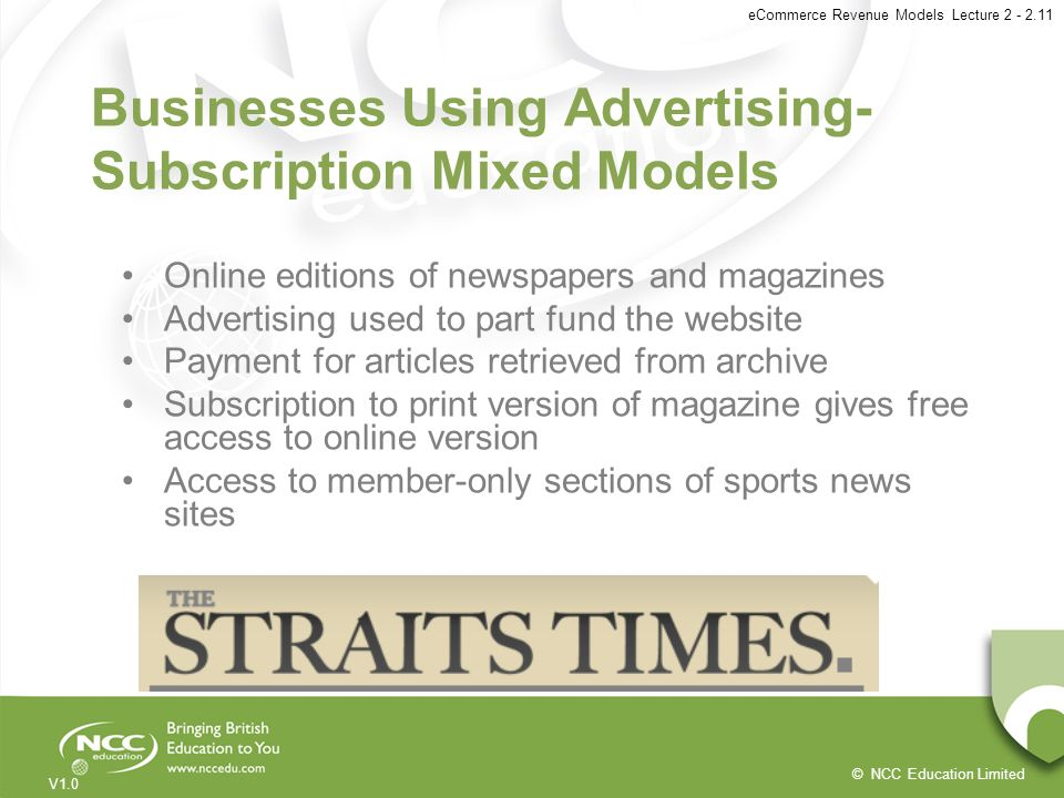 Businesses Using Advertising-Subscription Mixed Models