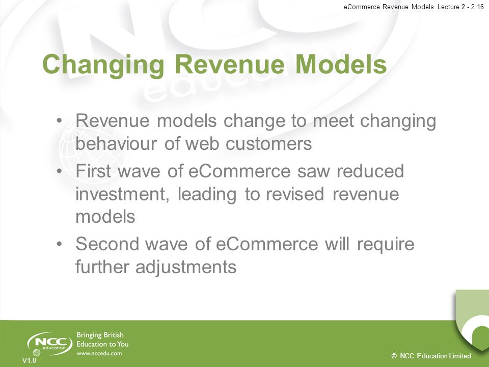 Changing Revenue Models