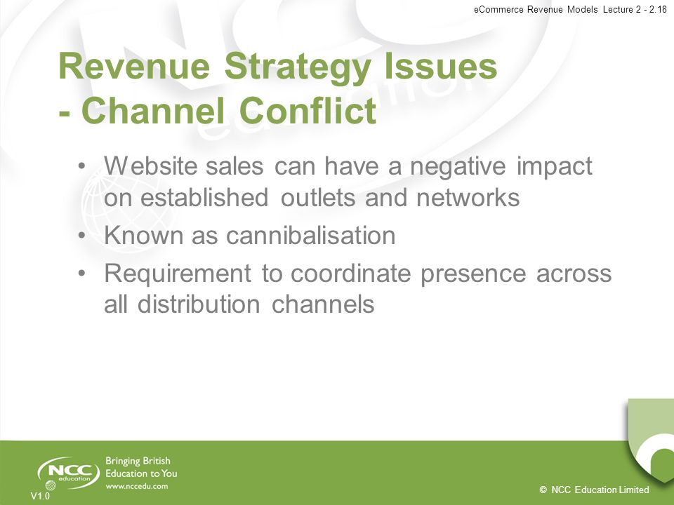 Revenue Strategy Issues - Channel Conflict