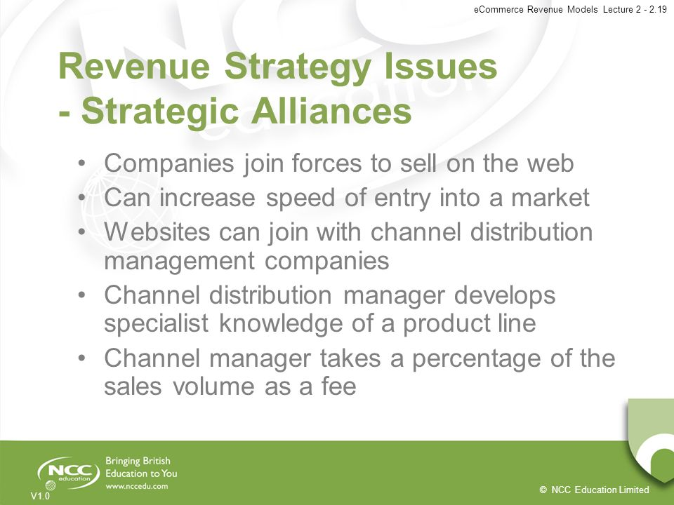 Revenue Strategy Issues - Strategic Alliances