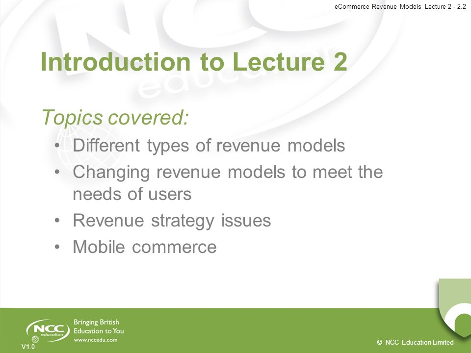 Introduction to Lecture 2